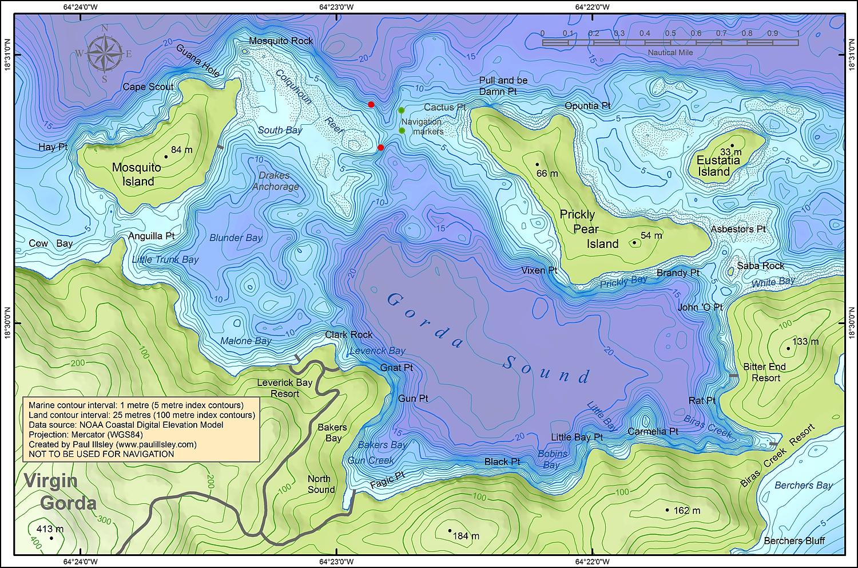 British Virgin Islands Map - British virgin islands map