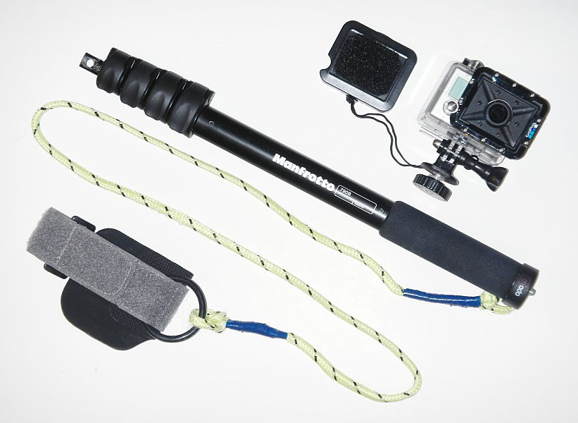 GoPro Underwater Monopod Setup